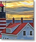 West Quoddy Head Lighthouse 3822 Metal Print
