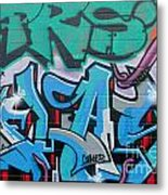 Abstract Graffiti On The Textured Wall Metal Print