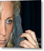 Blond Woman Metal Print