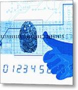 Fingerprint Scanning Metal Print