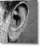 Human Ear Metal Print