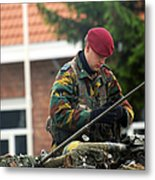 Members Of A Recce Or Scout Team Metal Print