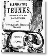 Mortised Cut, 19th Century Metal Print