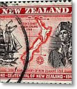 old New Zealand postage stamp Metal Print