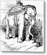 Presidential Campaign, 1884 Metal Print