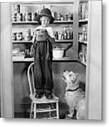 Silent Still: Children Metal Print