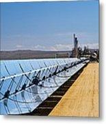 Solar Power Plant, California, Usa Metal Print