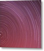 Star Trails Metal Print