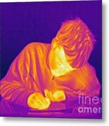 Thermogram Of A Boy Metal Print