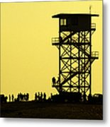 82nd Airborne Division Soldiers Gather Metal Print