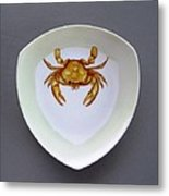 866 2 Part Of Crab Set 1 Metal Print by Wilma Manhardt