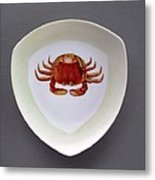 866 3 Part Of Crab Set 1 Metal Print