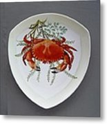 866 6 Part Of Crab Set  866  Metal Print by Wilma Manhardt