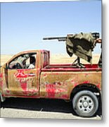 A Free Libyan Army Pickup Truck Metal Print by Andrew Chittock