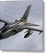 A Luftwaffe Tornado Ids Over Northern Metal Print