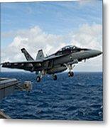 An Fa-18f Super Hornet Launches Metal Print