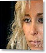 Blond Woman Metal Print