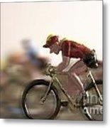 Cyclists Metal Print