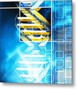 Dna Molecule Metal Print