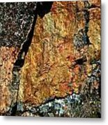 Painted Rocks At Hossa With Stone Age Paintings Metal Print