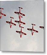 The Snowbirds 431 Air Demonstration Metal Print