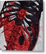 Torso Skeleton Metal Print