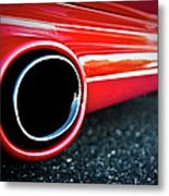 94 Vette Side Pipes Metal Print
