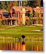 9th Hole's Occasional Water Hazard Metal Print