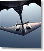 A B-2 Spirit Bomber Conducts Metal Print