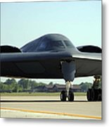 A B-2 Spirit Taxis Onto The Flightline Metal Print