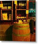A Barrel And Wine Metal Print by Jeff Swan