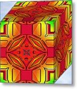 A Beautiful Cube Metal Print