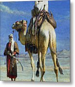 A Bedoueen Family In Wady Mousa Syrian Desert Metal Print