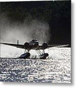A Beechcraft D-18s Floatplane ,built Metal Print