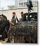 A Belgian Recce Or Scout Team Metal Print