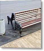 A Bench To Rest In A Public City Park Metal Print