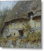 A Berkshire Cottage  Metal Print