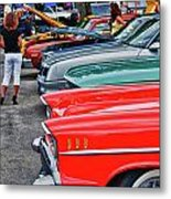 A Blast Of Color - Auto Row 7708 Metal Print
