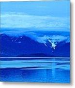 A Blue Slice Of Alaska Coast Metal Print