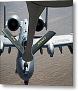 A Boom Operator Refuels An A-10 Metal Print by Stocktrek Images