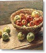 A Bowl Of Apples Metal Print