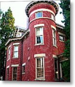 A Brick House With A Turret Metal Print