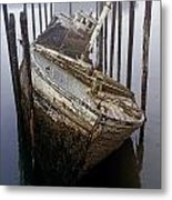 A Broken Boat Metal Print