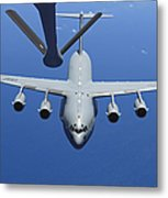 A C-17 Globemaster IIi Approaches Metal Print by Stocktrek Images