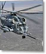 A Ch-53e Super Stallion Approaches Metal Print