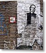 A Character On The Wall Metal Print by RicardMN Photography