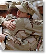 A Chief Master Sergeant Consoles Metal Print
