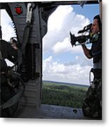 A Cinematographer Videotapes A Soldier Metal Print