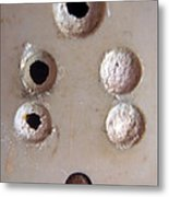 A Clogged Up 5 Point Electric Plug Point Metal Print