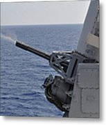 A Close-in Weapons System Aboard Metal Print